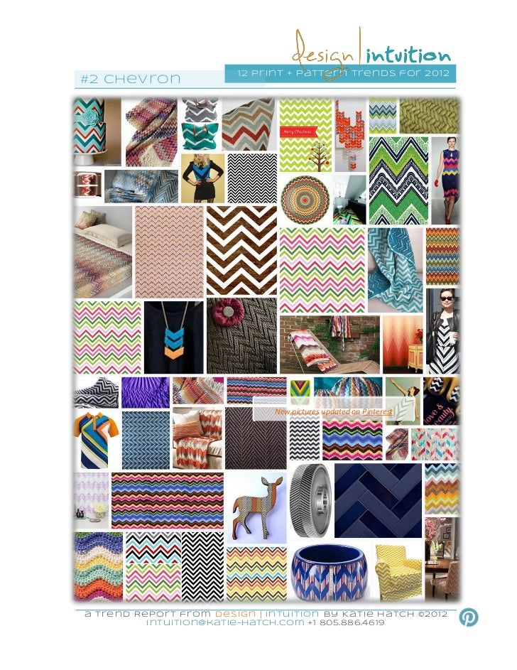 """""""Chevron"""" 2nd of 12 Print & Pattern Trends for 2012"""