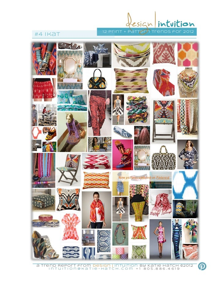 1 2 pri nt + pattern trends for 201 2#4 ikat                                    New pictures updated on Pinteresta Trend R...