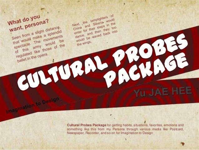 디자인상상 [20121588 유 재 희] cultural probes packge