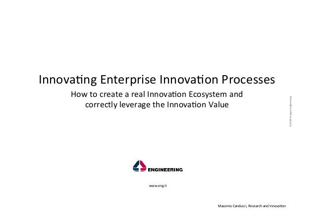 How	   to	   create	   a	   real	   Innova-on	   Ecosystem	   and	   	    correctly	   leverage	   the	   Innova-on	   Val...