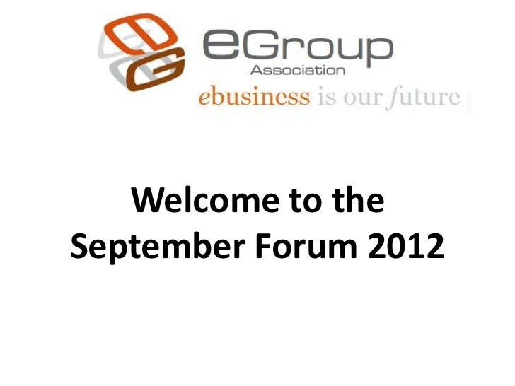 Welcome to theSeptember Forum 2012