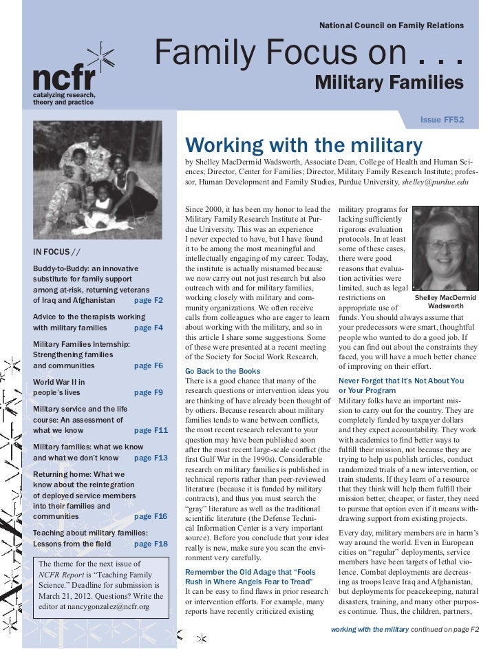National Council on Family Relations                                   Family Focus on . . .                              ...