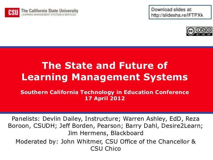 The State and Future of Learning Management Systems Panel Presentation
