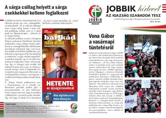 Jobbik Hírlevél