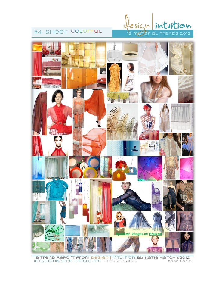 """""""Sheer"""" 4th of 12 #materialTrends for 2012"""