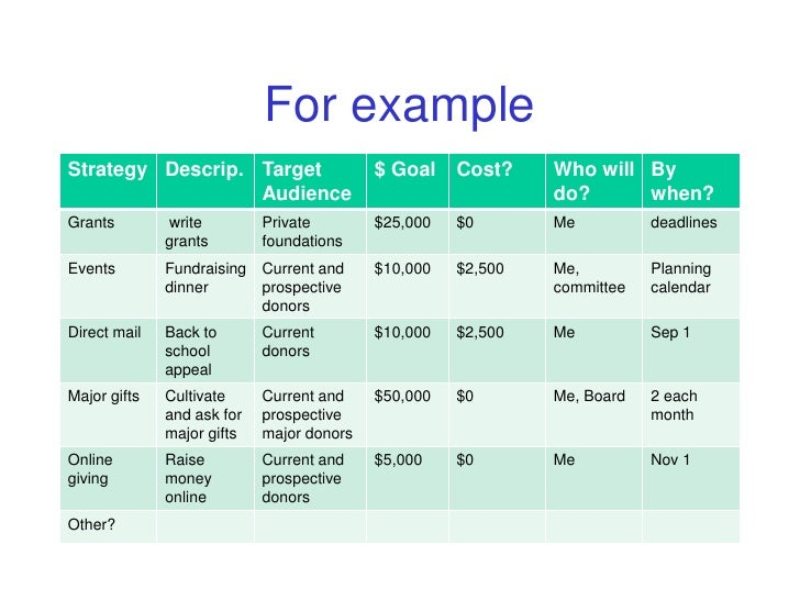 Wonderful Nonprofit Fundraising Plan Template Photos  Example