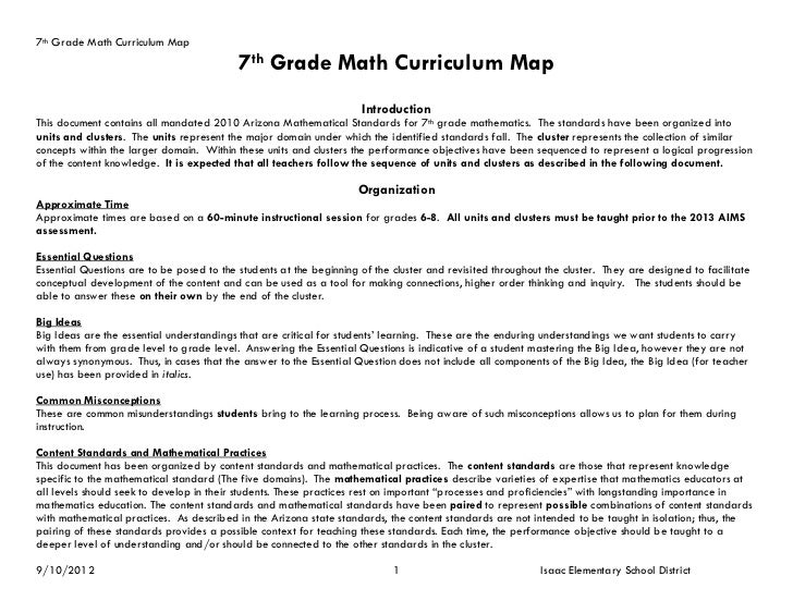 7th Grade Math Curriculum Map                                           7th Grade Math Curriculum Map                     ...