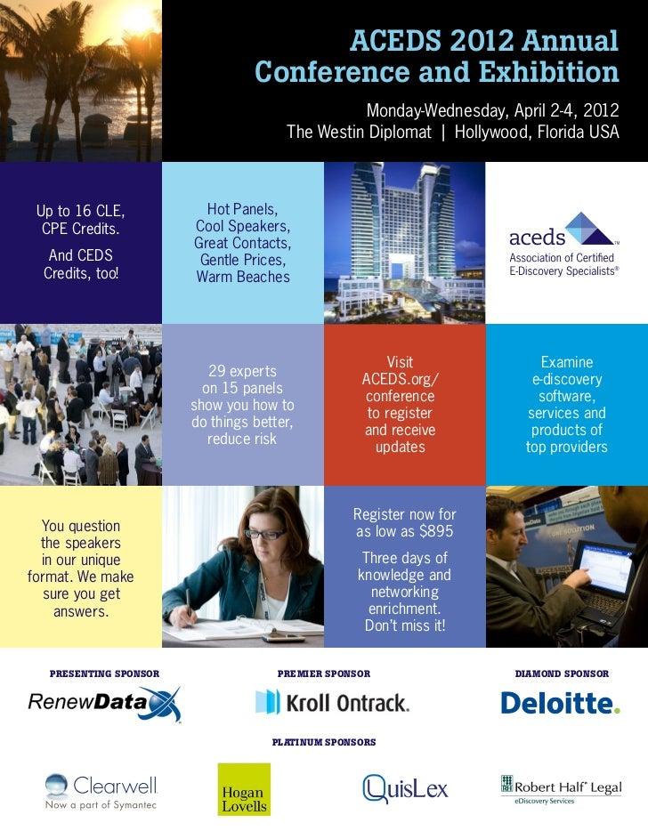 2012 ACEDS conference brochure w shr voucher
