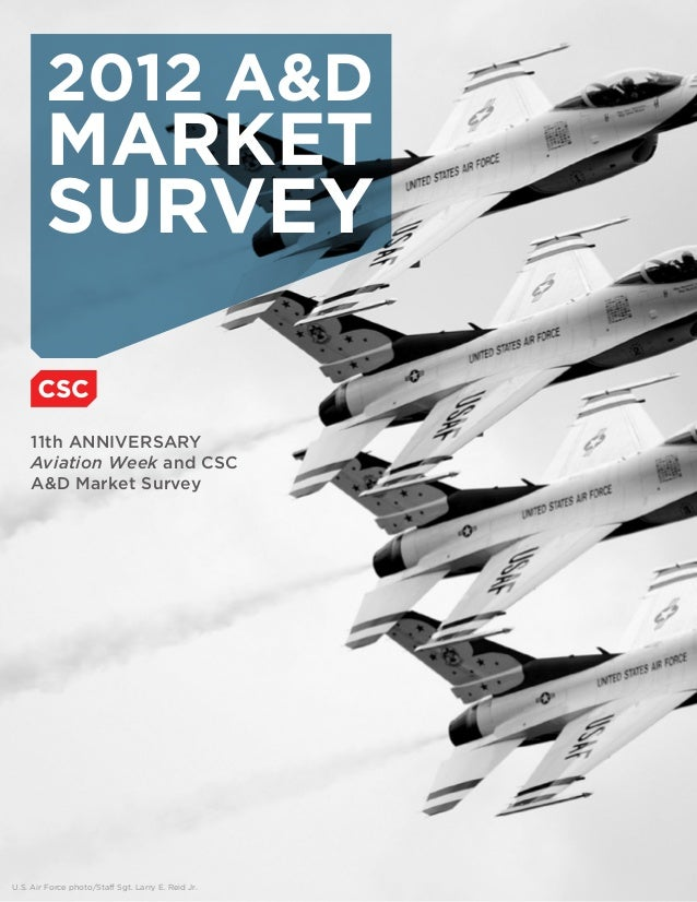 U.S. Air Force photo/Staff Sgt. Larry E. Reid Jr. 11th ANNIVERSARY Aviation Week and CSC A&D Market Survey 2012 A&D MARKET...