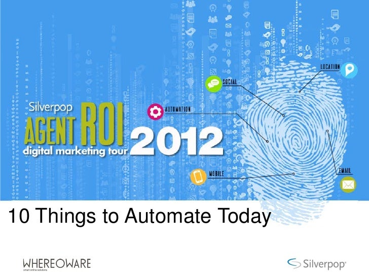 10 Things to Automate Today