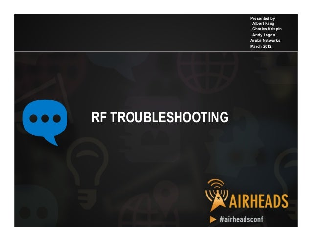 2012 ah apj   rf troubleshooting