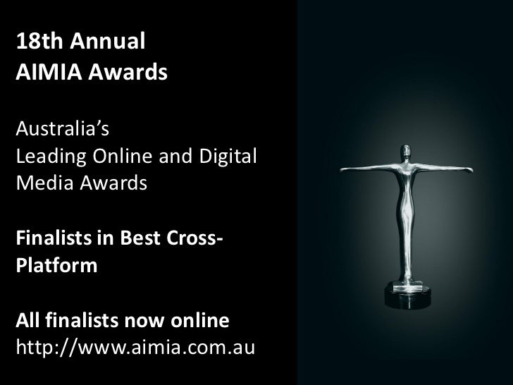 2012 Aimia Awards Finalists Best Cross Platform