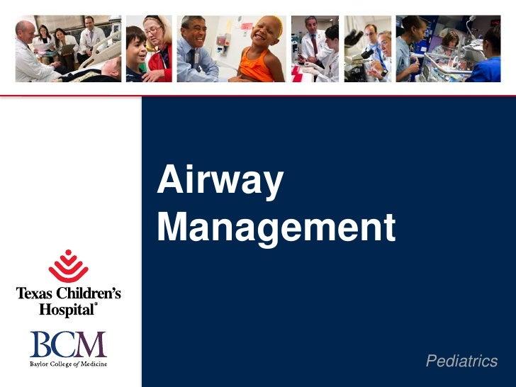AirwayManagement             Pediatrics