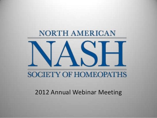 2012 Annual Webinar Meeting