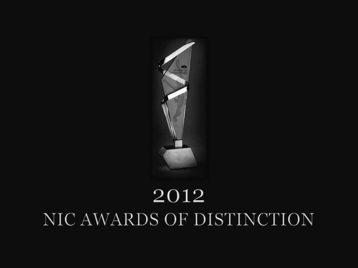 2012 NIC Awards of Distinction