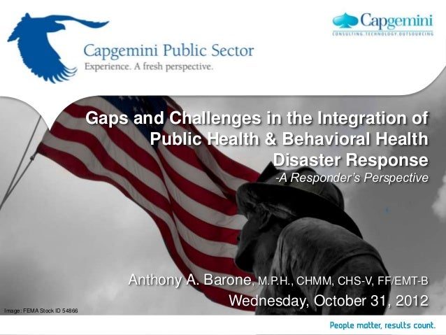 Gaps and Challenges in the Integration of                                    Public Health & Behavioral Health            ...