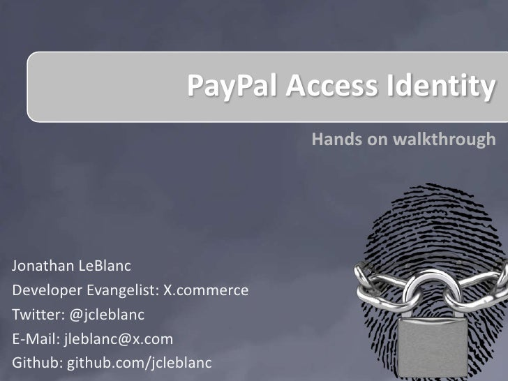 2012 Internal Hackathon: PayPal Access