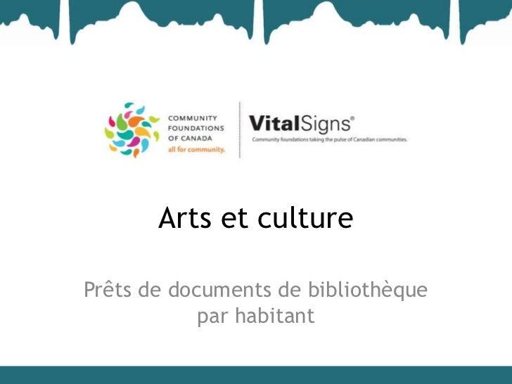 Arts et culturePrêts de documents de bibliothèque            par habitant