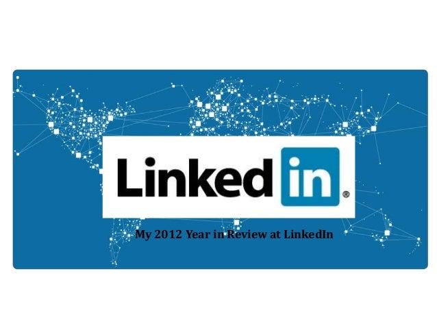 My year at LinkedIn 2012