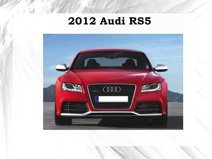 2012 Audi RS5 in India