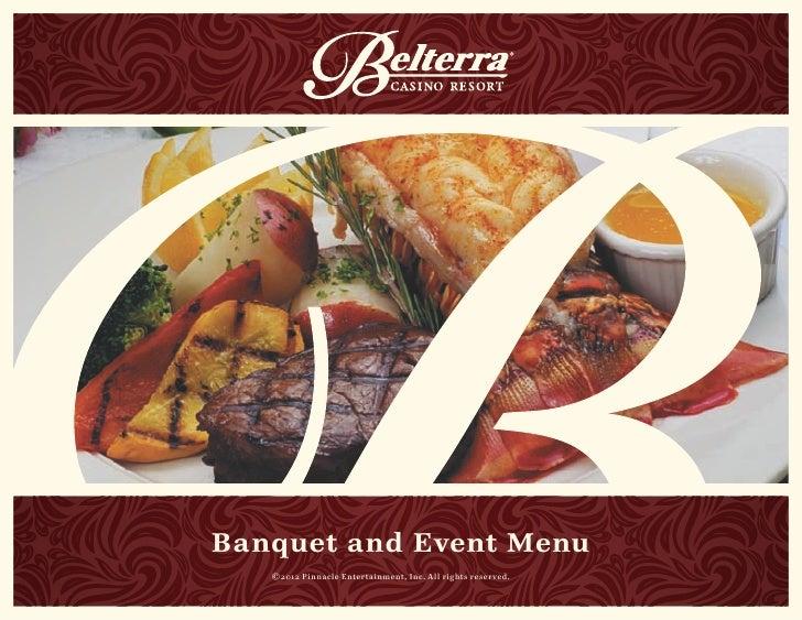 2013 Belterra Banquet Menu