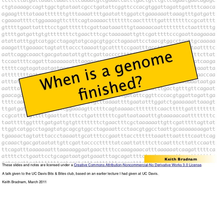 When is a genome finished?