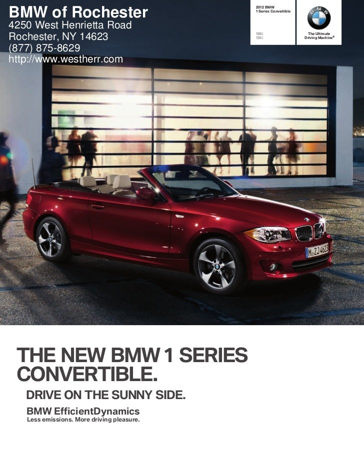 2012 BMW 1 Series Convertible For Sale NY - BMW Dealer Near Buffalo