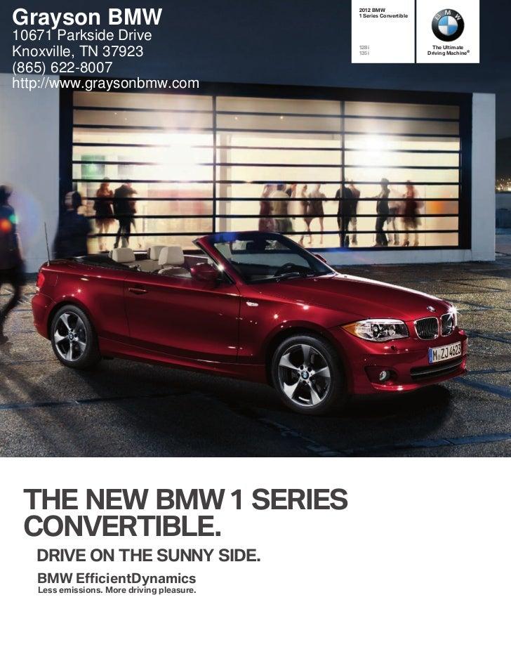 #.8Grayson BMW                                 4FSJFT$POWFSUJCMF10671 Parkside Drive                                      ...
