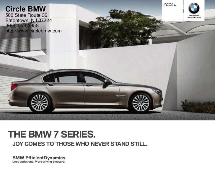 2012 BMW 7 Series For Sale NJ | BMW Dealer In Eatontown