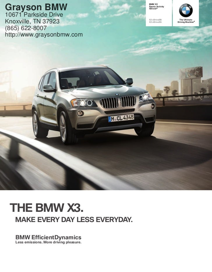 2012 BMW X3 For Sale TN | BMW Dealer In Knoxville