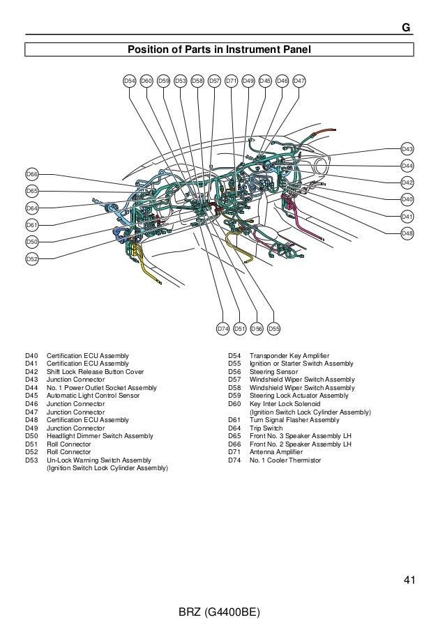 2012 BRZ wiring service manual