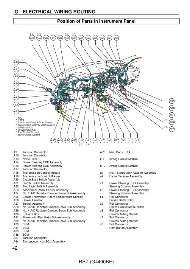2012 BRZ wiring service manual