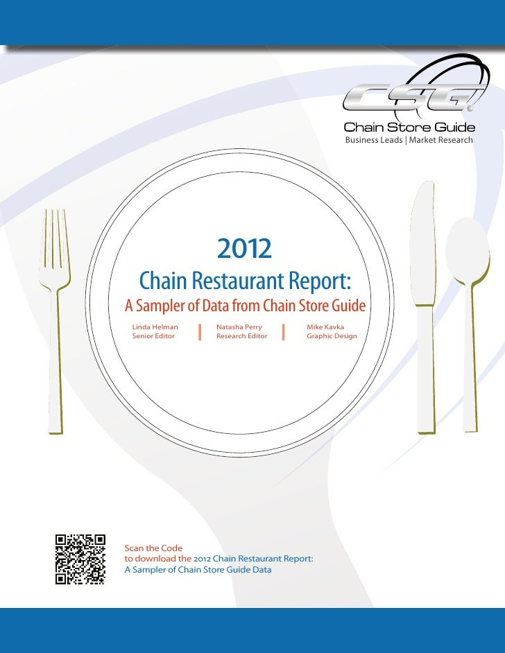 2012 Chain Restaurant Report