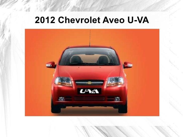 2012 Chevrolet Aveo U-VA