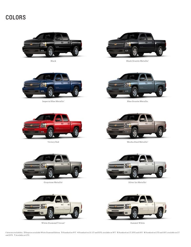 New Chevrolet Silverado Colors Autos Post