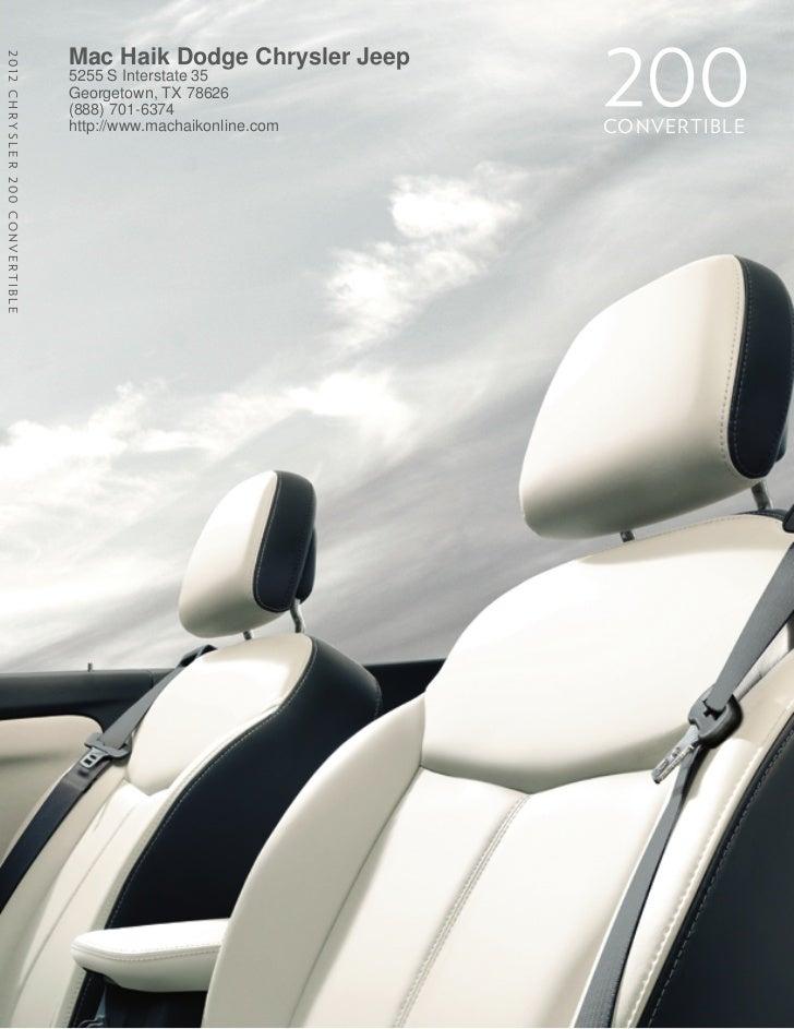 2012 Chrysler 200 Convertible For Sale TX | Chrysler Dealer Near Austin