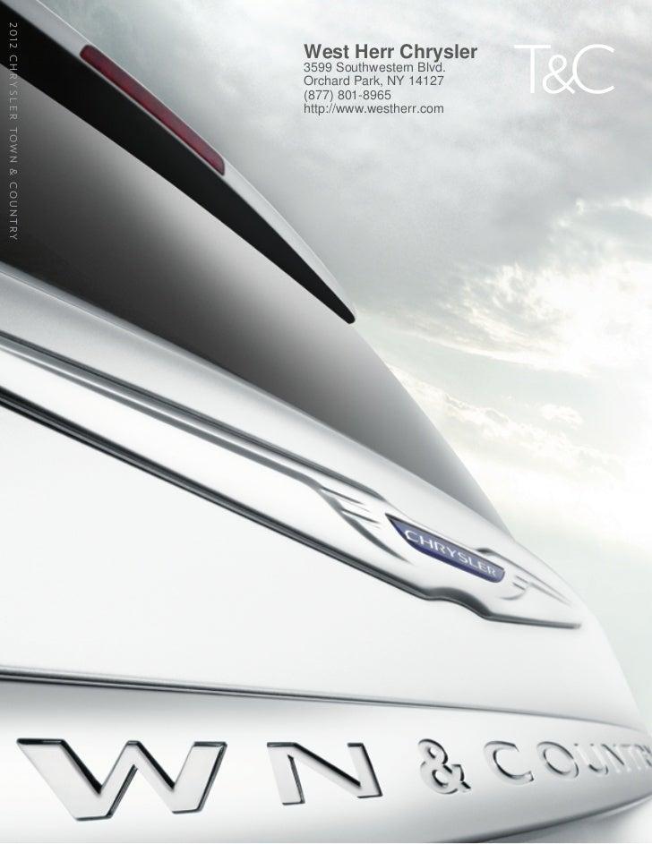 2012 Chrysler Town & Country For Sale NY   Chrysler Dealer Near Buffalo