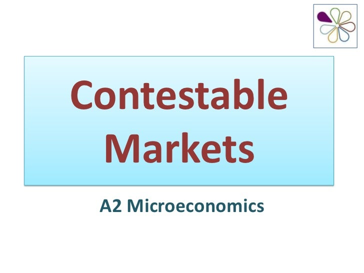 the theory of the contestable market Contestable markets: an uprising in the theory of industry structure: comment  by martin l weitzman a situation traditionally identified as con- ducive to.