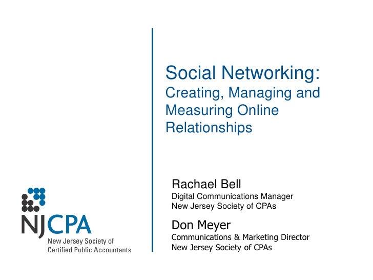 2012 NJSCPA Convention & Expo - Social Media Presentation