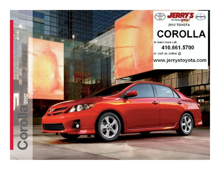 2012 Toyota Corolla at Jerry's Toyota in Baltimore Maryland