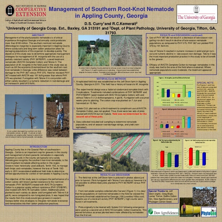 Management of Southern Root-Knot Nematode                                                             in Appling County, G...