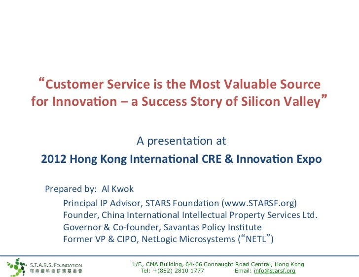 """""""Customer Service is the Most Valuable Source        for Innova7on – a Success Story of Silico..."""