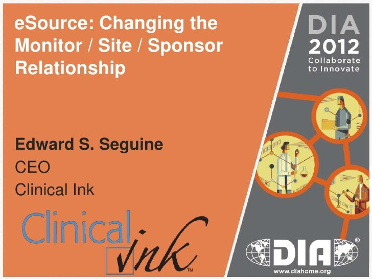 2012 DIA eSource monitor-site-sponsor relationship