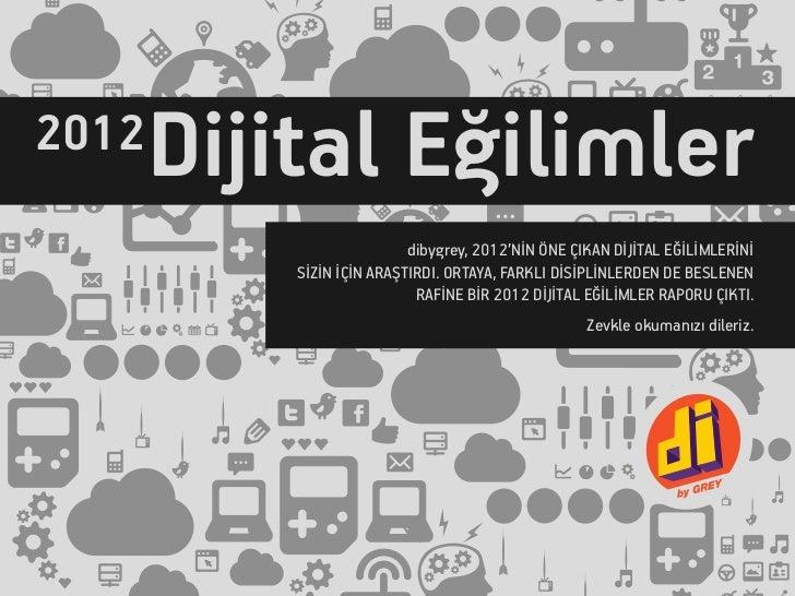2012 Dijital Eğilimler