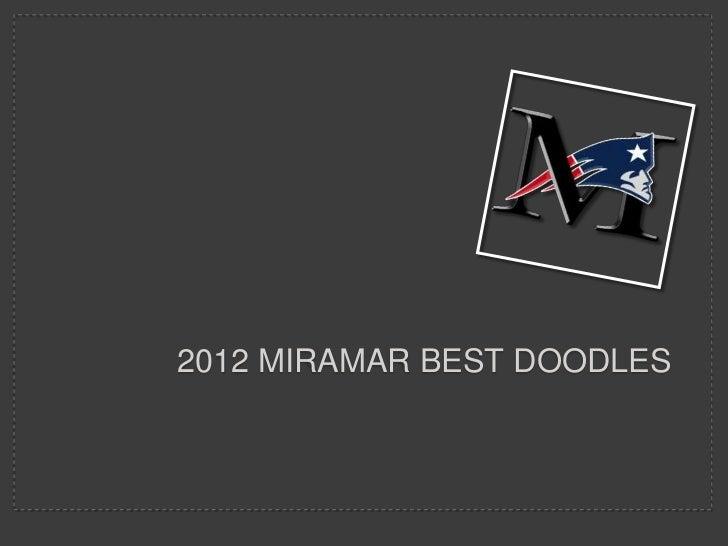 2012 MIRAMAR BEST DOODLES
