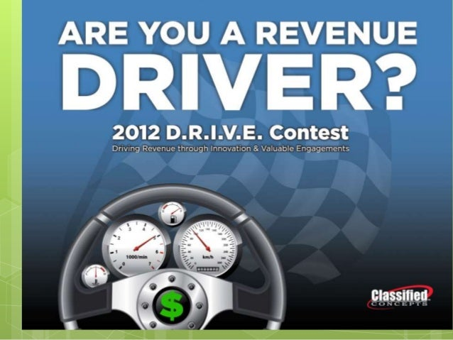 2012 D.R.I.V.EDriving Revenue throughInnovative and Valuable      Engagements