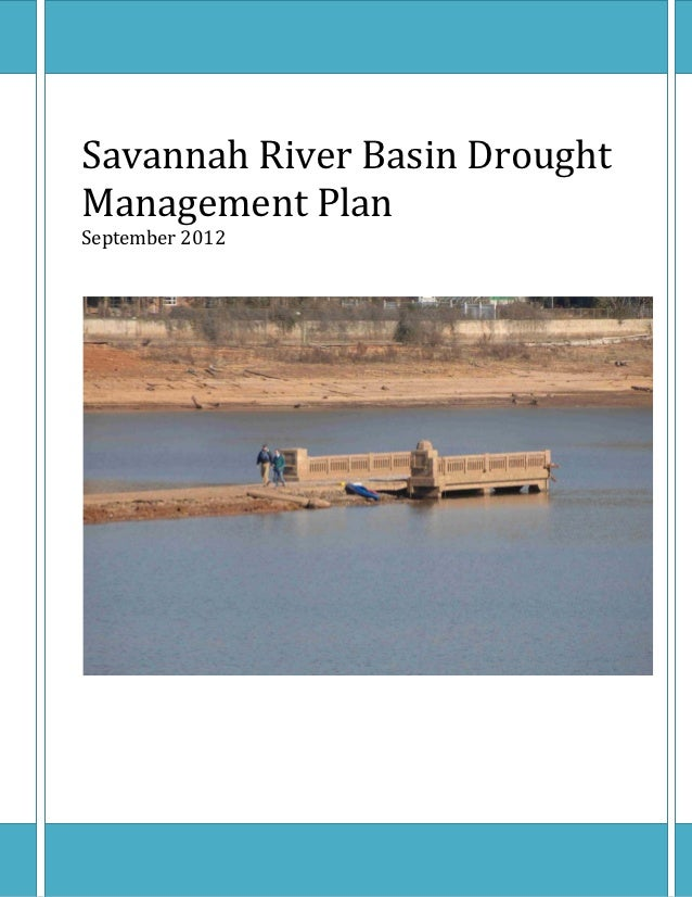 Savannah	River	Basin	Drought	Management	Plan	September	2012