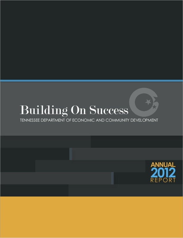 Tennessee Department of Economic and Community Development 2012 Report