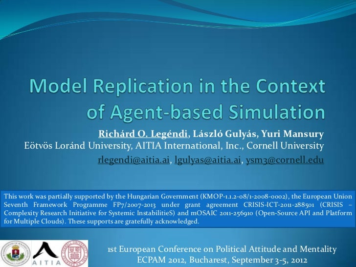 Model Replication in the Context of Agent-based Simulation