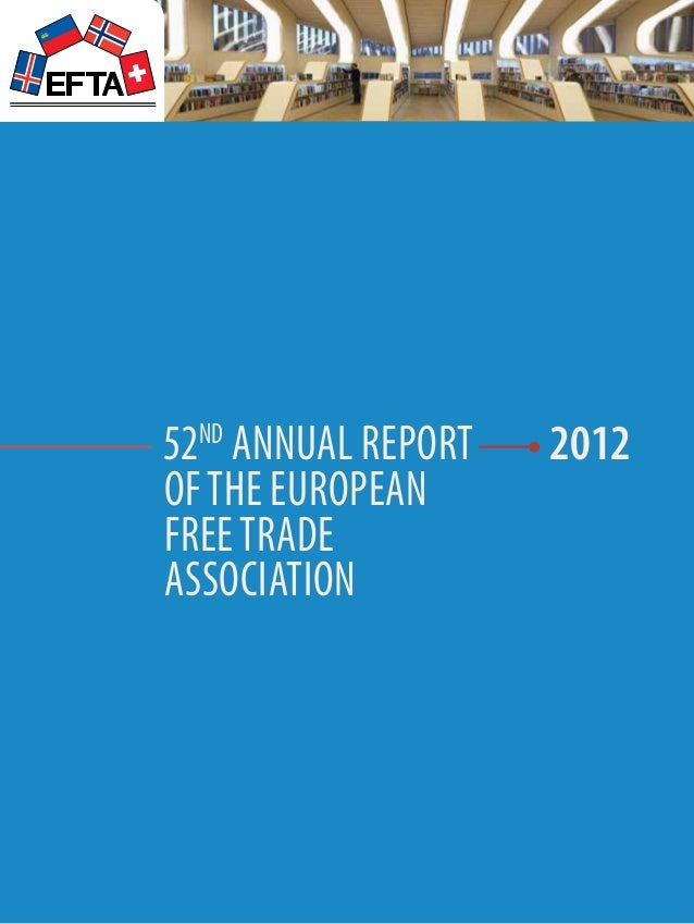 52th Annual Report of The European Free Trade Association 2012